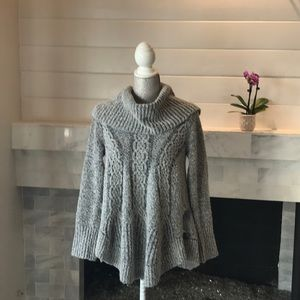 Anthropologie Angel of the North Gray Sweater EUC!